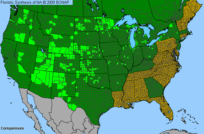 Allergies By County Map For Bugseed
