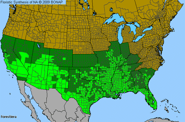 Allergies By County Map For Swamp-Privet