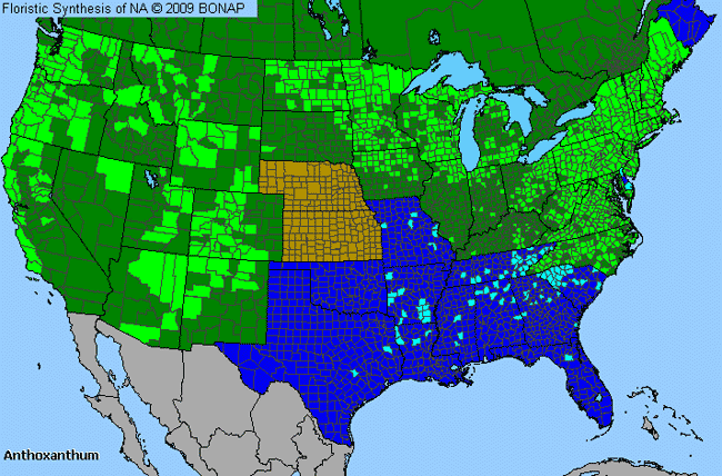 Allergies By County Map For Sweet Vernal Grass