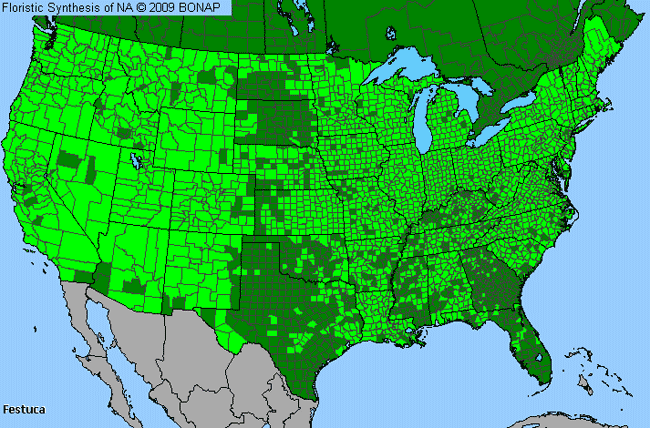 Allergies By County Map For Fescue