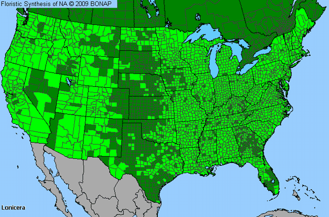 Allergies By County Map For Honeysuckle