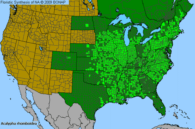 Allergies By County Map For Common Three-Seed-Mercury