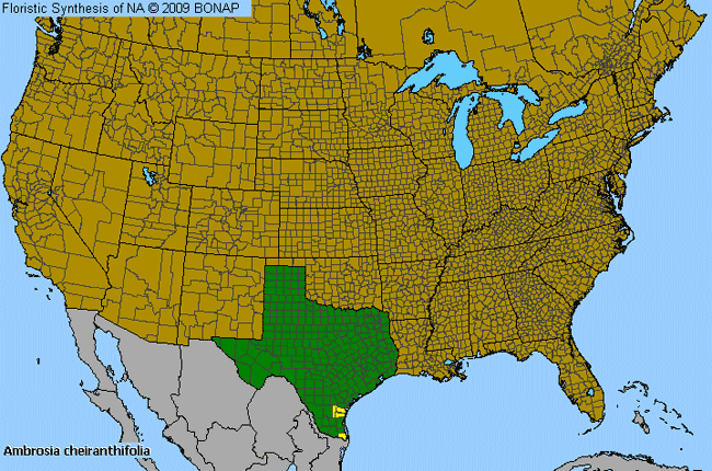 Allergies By County Map For Rio Grande Ragweed