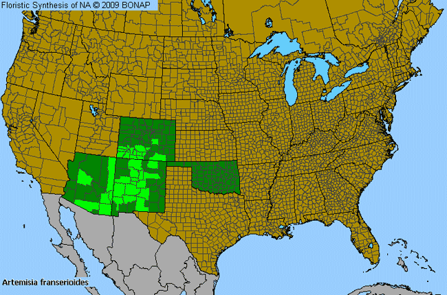 Allergies By County Map For Ragweed Sagebrush