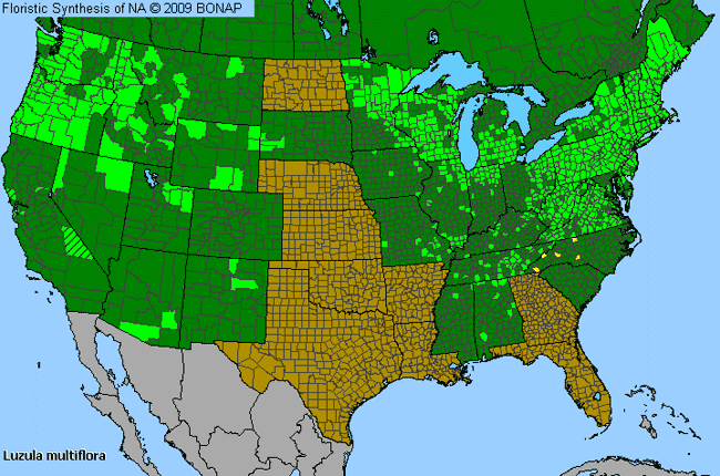 Allergies By County Map For Common Wood-Rush