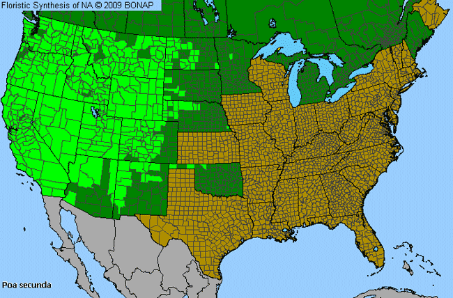 Allergies By County Map For Curly Blue Grass
